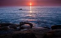 Sunset over the ocean [5] wallpaper 1920x1080 jpg