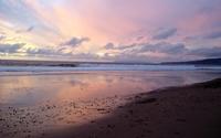 Sunset reflecting in the wet sandy beach wallpaper 1920x1200 jpg
