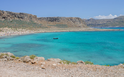 The blue bay of Gramvousa wallpaper