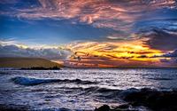 Waves in the dusk wallpaper 1920x1200 jpg