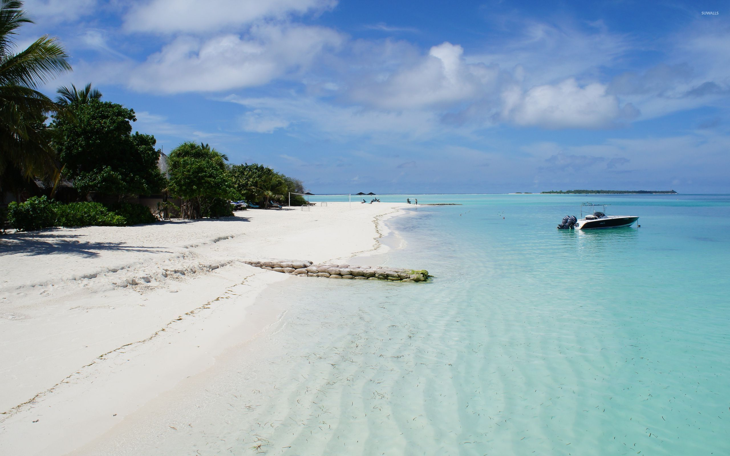 White sand on the shore wallpaper - Beach wallpapers - #54276