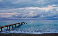 Wooden pier to the ocean wallpaper 3840x2160 jpg