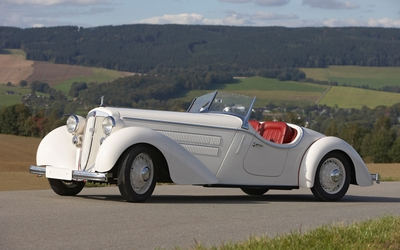 1935 White Audi Front 225 Roadster wallpaper