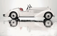 1935 White Audi Front 225 Roadster side view wallpaper 1920x1200 jpg
