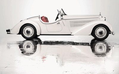 1935 White Audi Front 225 Roadster side view wallpaper