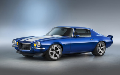 1970 Chevrolet Camaro RS Supercharged front view Wallpaper
