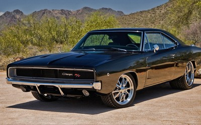 1970 Dodge Charger R/T front side view wallpaper