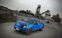 2009 Blue Ford F-150 front side view wallpaper 1920x1200 jpg