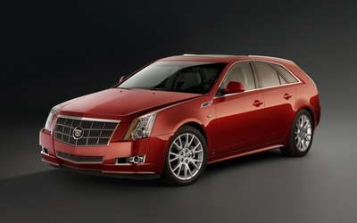 2010 Red Cadillac CTS wagon wallpaper