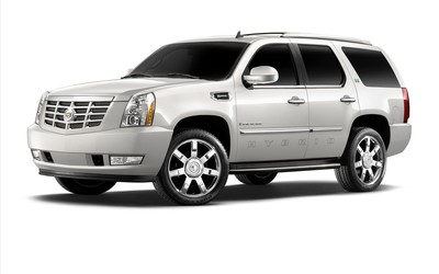 2011 Cadillac Escalade hybrid front side view wallpaper