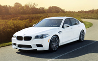 2012 BMW M5 front side view wallpaper 1920x1200 jpg