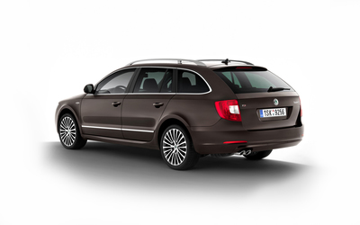 2012 Laurin & Klement Skoda Superb back side view wallpaper