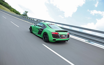 2012 Racing One Audi R8 back side view wallpaper