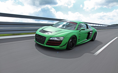 2012 Racing One Audi R8 front side view wallpaper