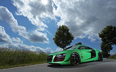 2012 Racing One Audi R8 in the middle on the road wallpaper