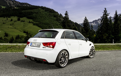 2012 White ABT Audi AS1 back view wallpaper