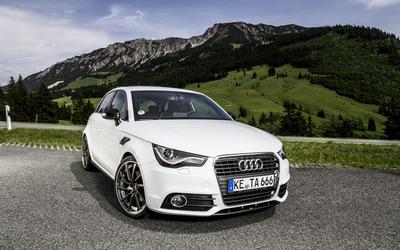 2012 White ABT Audi AS1 front view wallpaper