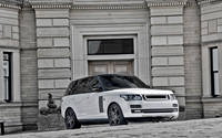 2013 A Kahn Design Land Rover Range Rover in front of a mansion wallpaper 2560x1600 jpg