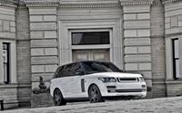 2013 A Kahn Design Land Rover Range Rover in front of a mansion wallpaper 2560x1600 jpg