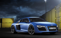 2013 Blue Audi R8 V10 Plus wallpaper 1920x1080 jpg
