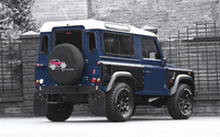 2013 Blue Land Rover Defender back side view wallpaper 2560x1600 jpg