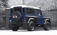 2013 Blue Land Rover Defender back side view wallpaper 2560x1600 jpg