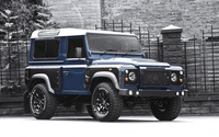 2013 Blue Land Rover Defender front side view wallpaper 2560x1600 jpg
