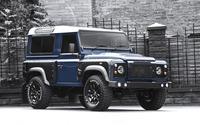 2013 Blue Land Rover Defender front side view wallpaper 2560x1600 jpg