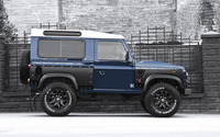 2013 Blue Land Rover Defender side view wallpaper 2560x1600 jpg