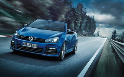 2013 Blue Volkswagen Golf R Cabriolet wallpaper