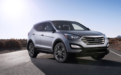 2013 Hyundai Santa Fe Sport front side view wallpaper