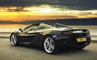 2013 McLaren MP4-12C on the shore wallpaper 1920x1080 jpg