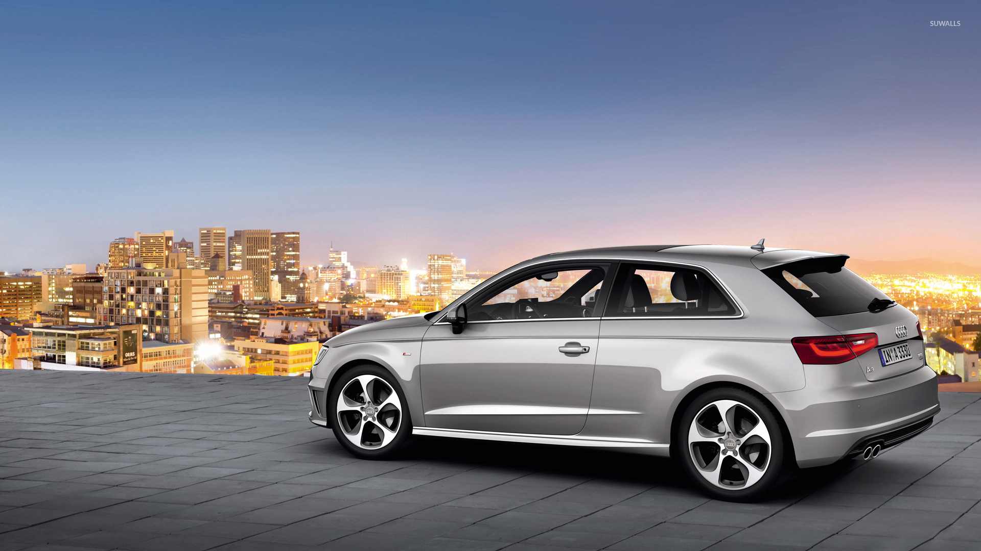 2013 silver audi a3 hatchback wallpaper car wallpapers. Black Bedroom Furniture Sets. Home Design Ideas