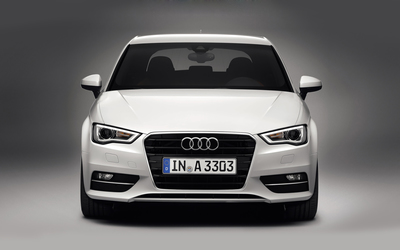 2013 White Audi A3 Hatchback wallpaper