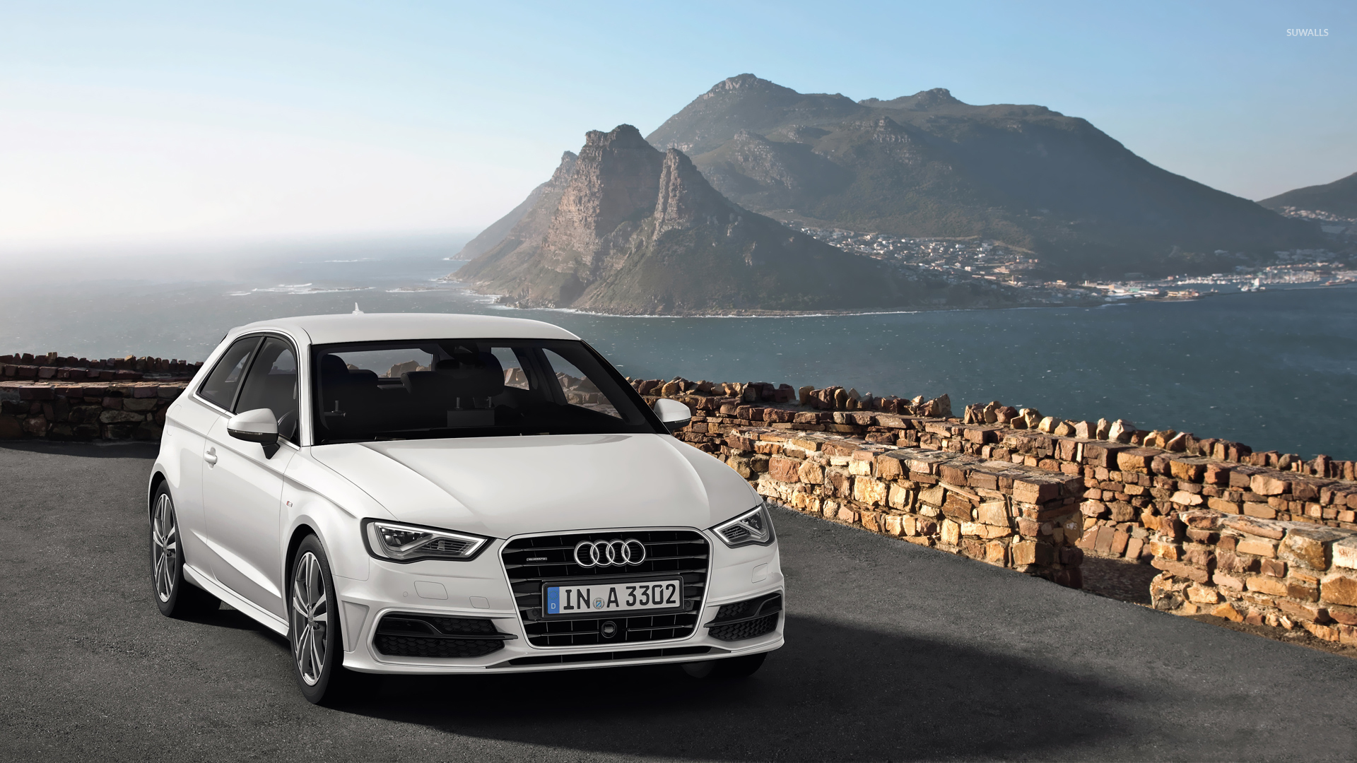 2013 white audi a3 hatchback quattro wallpaper car wallpapers 52621. Black Bedroom Furniture Sets. Home Design Ideas