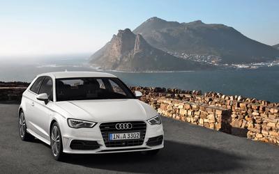 2013 White Audi A3 Hatchback quattro wallpaper