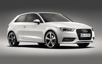 2013 White Audi A3 Hatchback side view wallpaper 1920x1200 jpg
