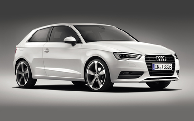 2013 White Audi A3 Hatchback side view wallpaper
