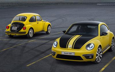 2013 Yellow Volkswagen Beetle GSR wallpaper