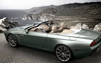 2013 Zagato Aston Martin DBS Spyder on the ocean side wallpaper 1920x1080 jpg