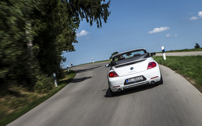 2014 ABT Volkswagen Beetle Cabrio back view on the road wallpaper