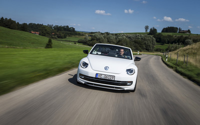 2014 ABT Volkswagen Beetle Cabrio on the road wallpaper