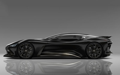 2014 Black Infiniti Vision Gran Turismo concept side view wallpaper