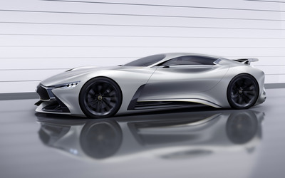 2014 Infiniti Vision Gran Turismo concept side view wallpaper