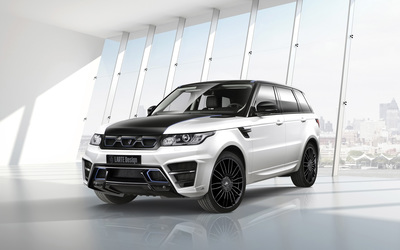 2014 Larte Design Land Rover Range Rover Sport in a show room wallpaper