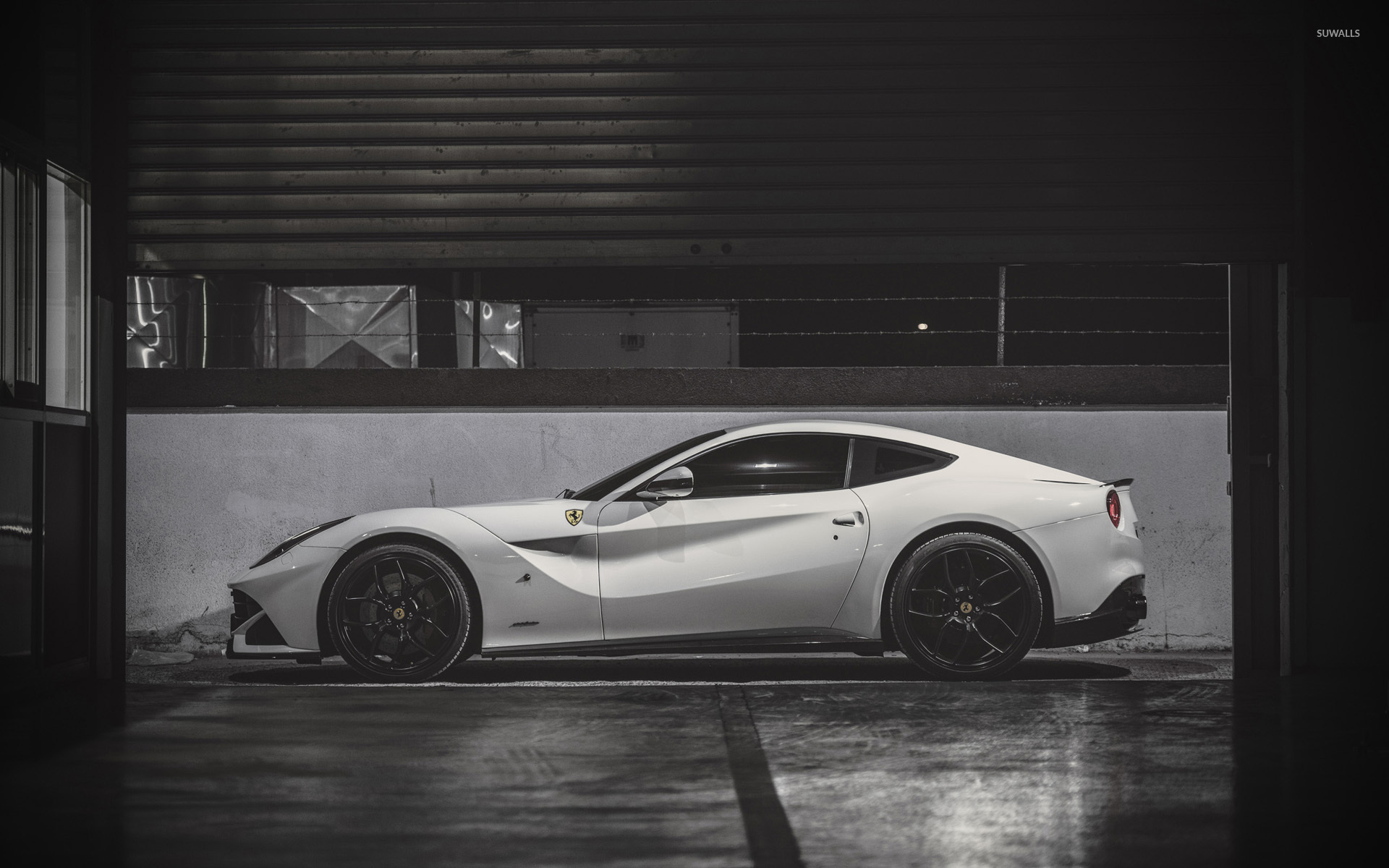ferrari 2014 white wallpaper. 2014 pp performance ferrari f12berlinetta side view wallpaper white