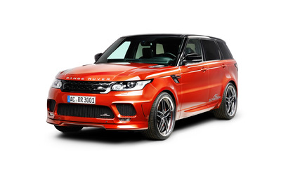 2014 Red AC Schnitzer Land Rover Range Rover front side view wallpaper