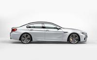 2014 Silver BMW M6 Gran Coupe side view wallpaper 1920x1200 jpg