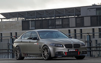 2014 Silver Fostla BMW 550i front side view wallpaper 2560x1600 jpg