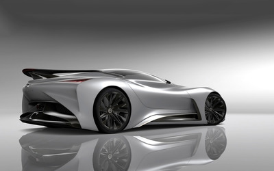 2014 Silver Infiniti Vision Gran Turismo concept back side view wallpaper